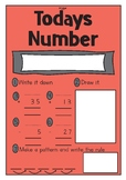 Todays Number activity