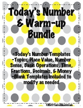 Today's Number and Warm-up Bundle