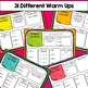 Daily Math Review- spiraling skill review and math warm ups for the upper grades