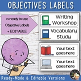 Lesson Objectives Labels