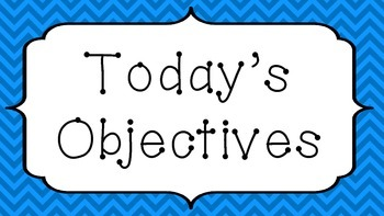 Today's Objective Posters