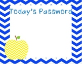 Today's Password by The 2 Teaching Divas