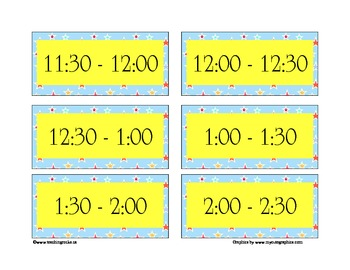 Today's Plan ~ A Day Schedule to post for students (Stars)