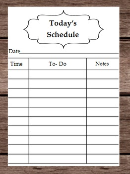 Todays Schedule List - Daily Schedule Calendar - Lesson Plans Reading Activities