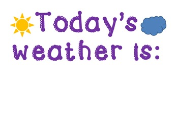 Today's Weather poster