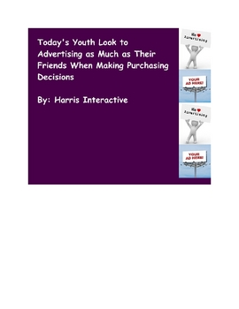 Today's Youth Look to Advertising  When Purchasing - Nonfiction