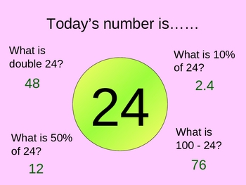 Today's number is ......