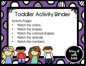 Toddler Activity Binder