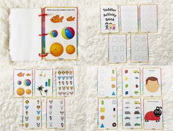 Toddler Activity Book, Busy Book for 2 and 3 years old, Kid's Travel Play Book