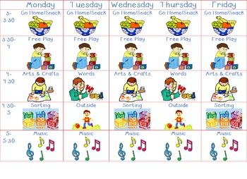 Toddler Afternoon Schedule
