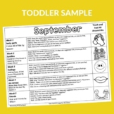 Toddler Book Based Activity Calendars