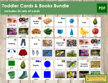 Toddler Cards Bundle: Montessori Printables