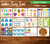 Toddler Busy Book, Toddler Activity Binder, Learning Busy Book, Quiet Book