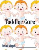 Toddler Care Booklet for Kids
