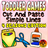 Toddler Centers Scissor Skills 4 Seasons Cut and Paste Activities No Prep