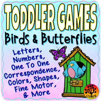 Toddler Centers Spring Activities Birds Butterflies Alphabet Numbers Fine Motor
