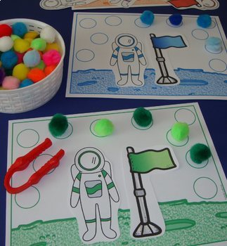 Toddler Centers Outer Space Activities Space Centers Alphabet Numbers Fine Motor