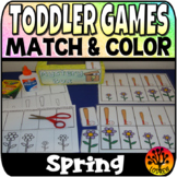 Toddler Centers Spring Activities Matching Spring Centers