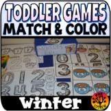 Toddler Centers Winter Activities Matching Winter Centers