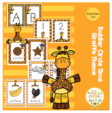 Toddler Circle Time Giraffe Theme Cards