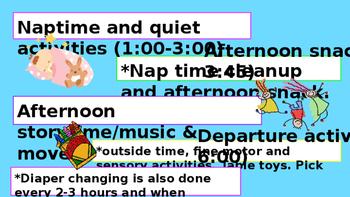 Toddler Classroom Schedule