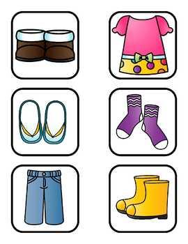 Toddler  BINGO: Clothing