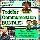 Toddler Communication BUNDLE- Daily Activities, Emotions,
