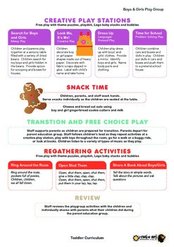 Toddler Curriculum - Boys & Girls