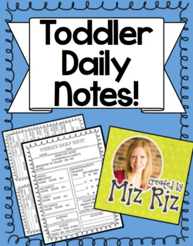 Toddler Daycare Daily Notes!
