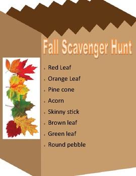 Toddler Fall Scavenger Hunt