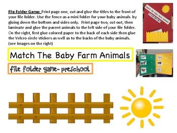 Toddler Farm Animals Themed Lesson Plan