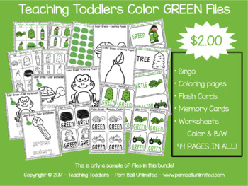 Toddler Files - Green