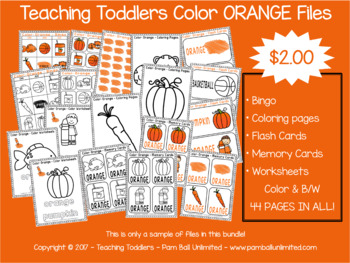 Toddler Files - Orange