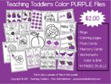 Toddler Files - Purple