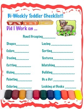 Toddler Learning Checklist