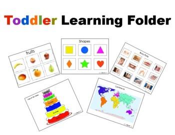 Toddler Learning Folder Pre School Prep By Jady Alvarez Tpt