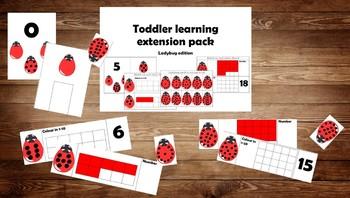Toddler Lerning Folder Ladybug Math Extension Pack