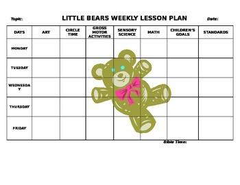 Toddler Lesson Plan