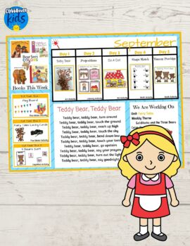 Toddler Lesson Plans- Goldilocks and the Three Bears (One Week)