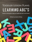 Toddler Lesson Plans: Learning ABC's