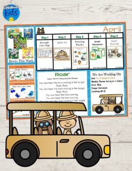 Toddler Lesson Plans- Let's Go On A Safari (One Week)