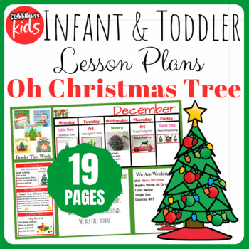 Toddler Lesson Plans- Oh Christmas Tree (One Week