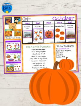 Toddler Lesson Plans- Pumpkins (One Week)