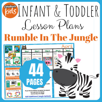 Toddler Lesson Plans- Rumble in the Jungle (One Week)