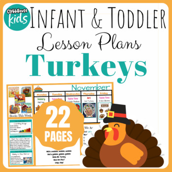 Toddler Lesson Plans- Turkeys  (One Week)