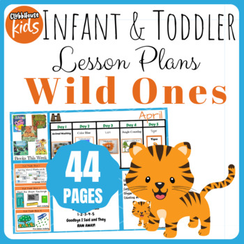 Toddler Lesson Plans- Wild Ones (One Week)