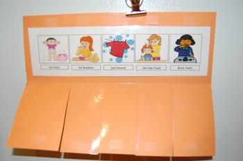 Toddler Morning Visual Schedule