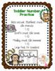 """Toddler Number Practice """"No Prep"""" 3 sets"""