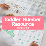 Toddler Number Resource: Numbers 0-10