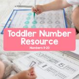 Toddler Number Resource: Numbers 11-20